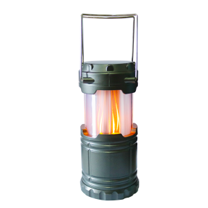 Collapsible Mini Lantern with Flame LED